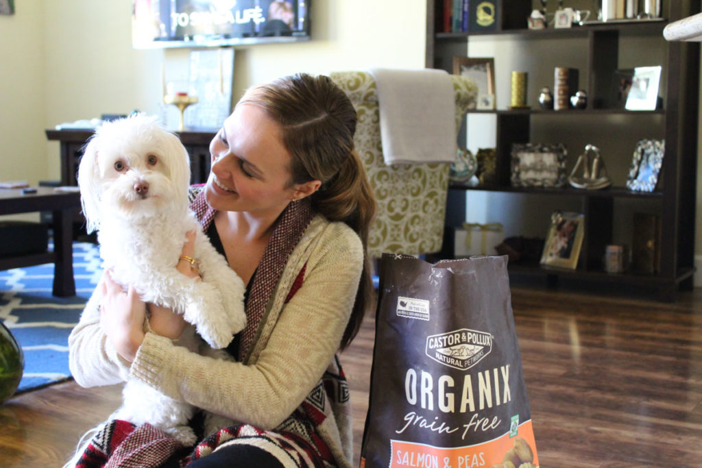 Ashley and Rudy with ORGANIX pet food by A Lady Goes West