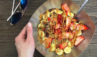 Acai bowl from Vitality Bowls by A Lady Goes West