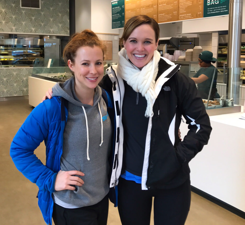 Ashley and Erin at Sweetgreen in Chicago by A Lady Goes West