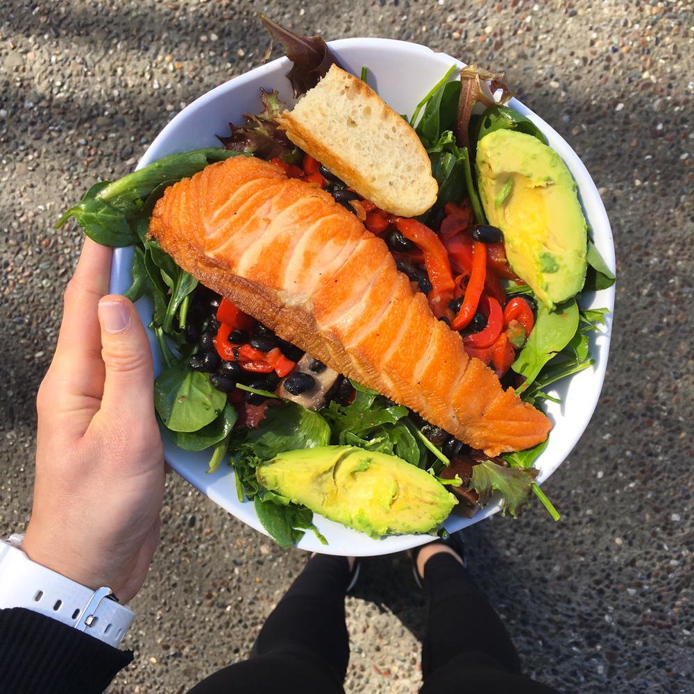 Salmon salad from Lettuce by A Lady Goes West