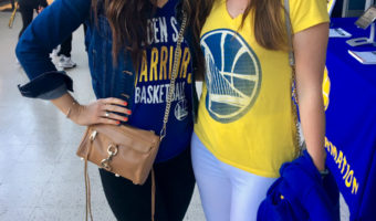 Ashley and Gwena at Oracle Arena by A Lady Goes West
