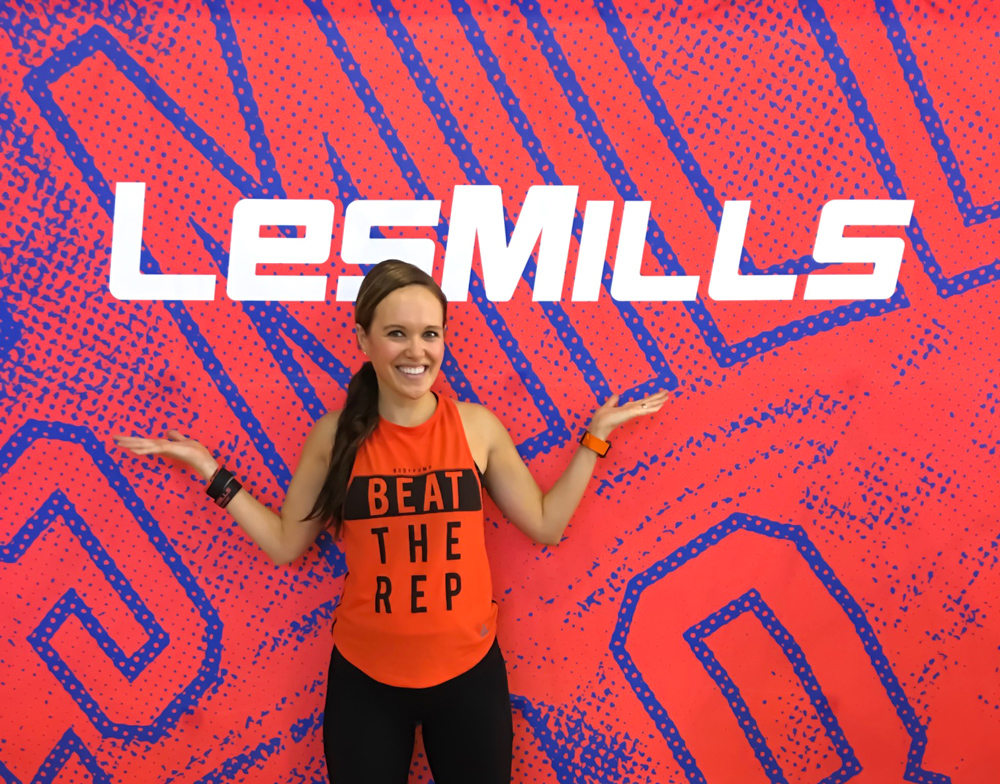 Ashley at the Les Mills Super Q in San Jose by A Lady Goes West