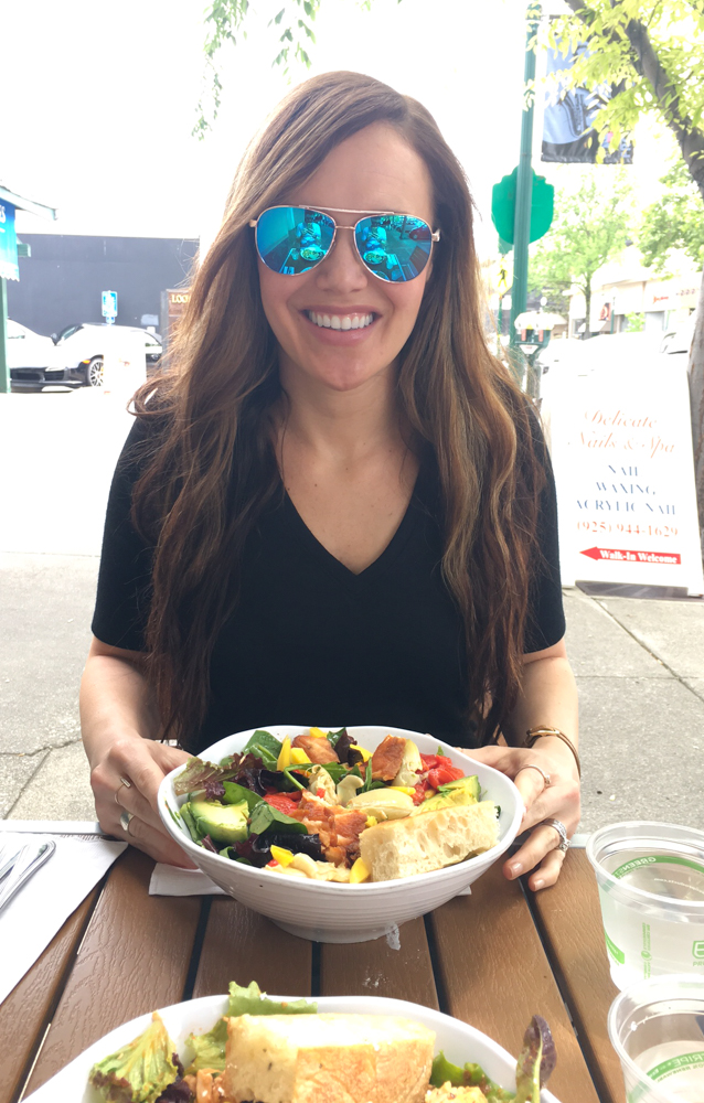 Ashley lunching at Lettuce in Walnut Creek by A Lady Goes West