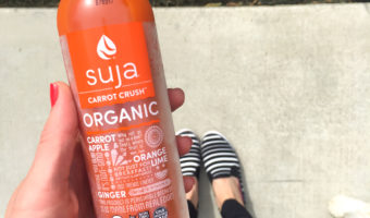 Carrot crush Suja Juice by A Lady Goes West