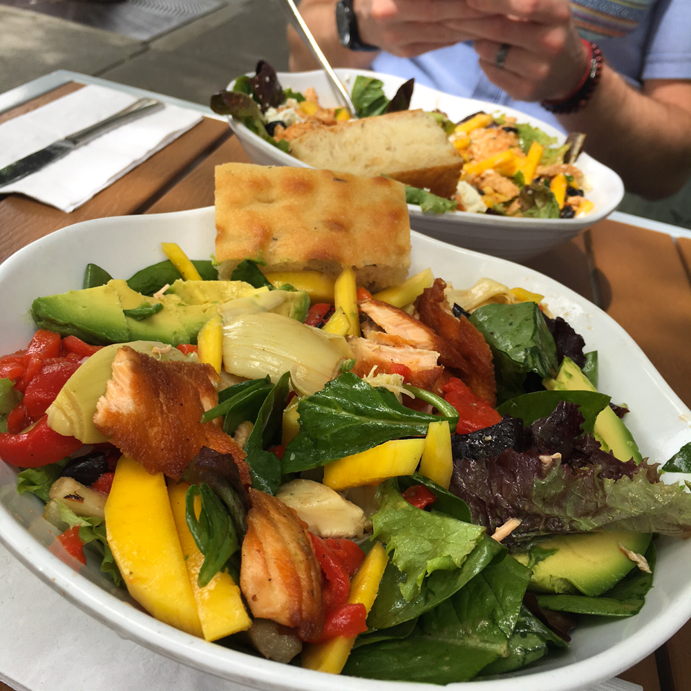 Salads for lunch at Lettuce in Walnut Creek by A Lady Goes West