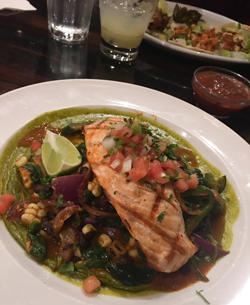 Salmon dinner at Maria Maria in Walnut Creek by A Lady Goes West