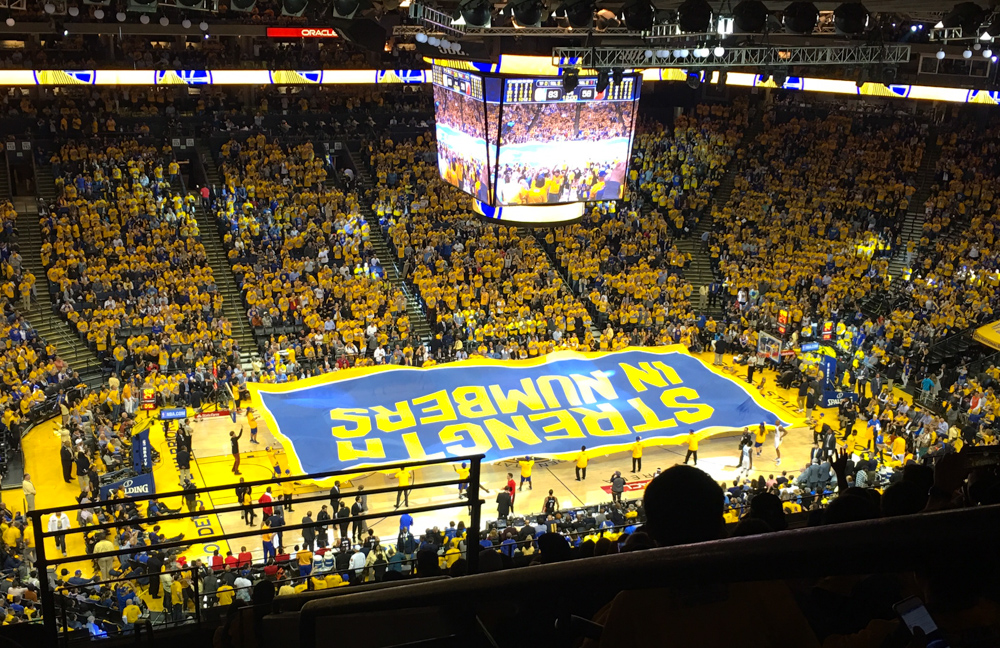 Warriors game by A Lady Goes West
