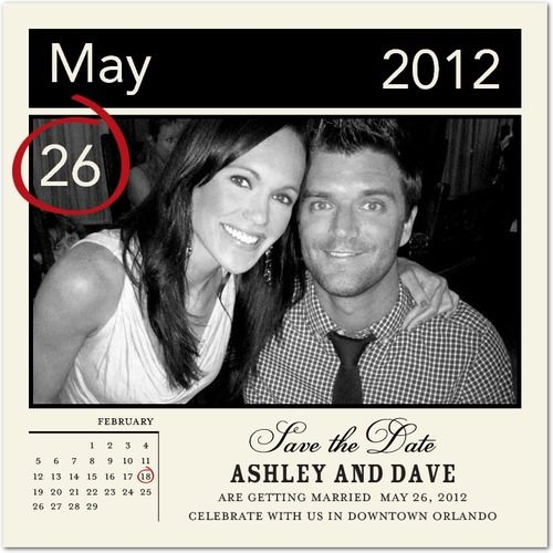 Ashley and Dave - Save the Date for Wedding