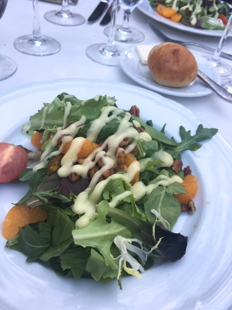 Dinner salad at the Rancho Bernardo Inn in SD by A Lady Goes West