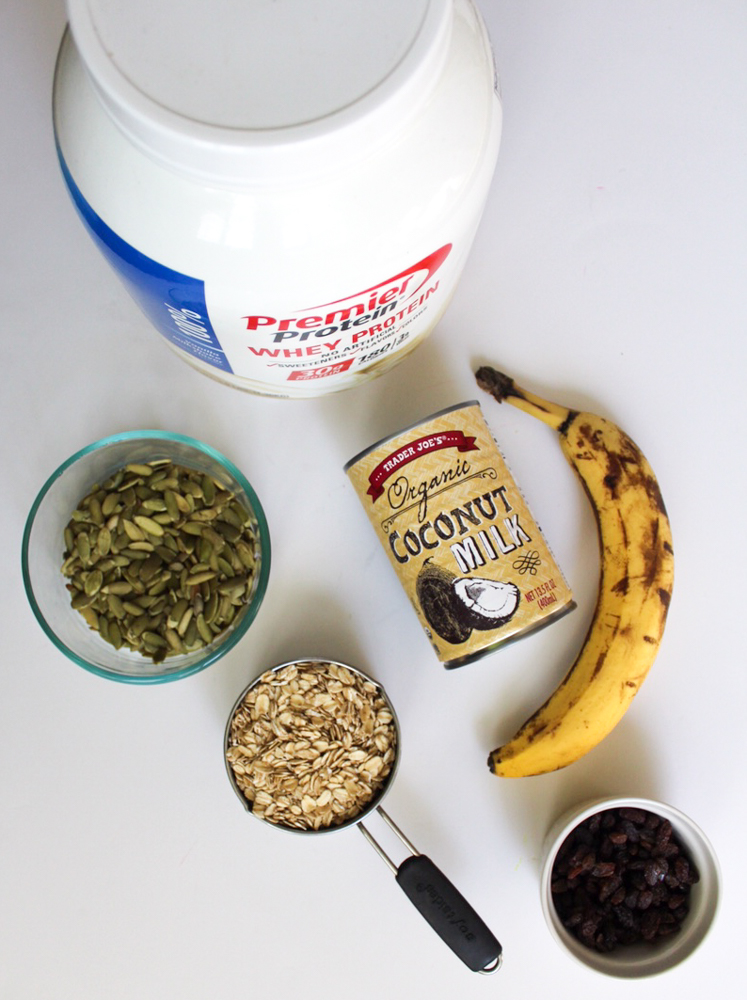 Healthy protein breakfast cookie ingredients by A Lady Goes West