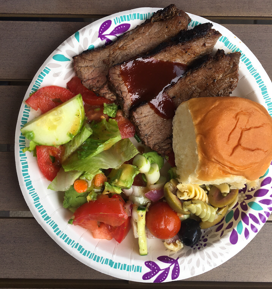 Tri-tip Memorial Day BBQ lunch by A Lady Goes West