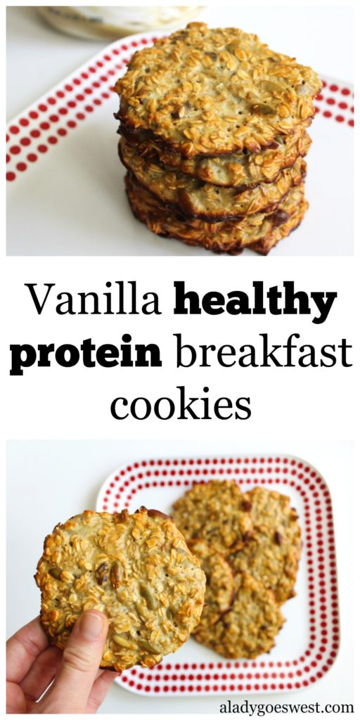 Vanilla healthy protein breakfast cookies by A Lady Goes West