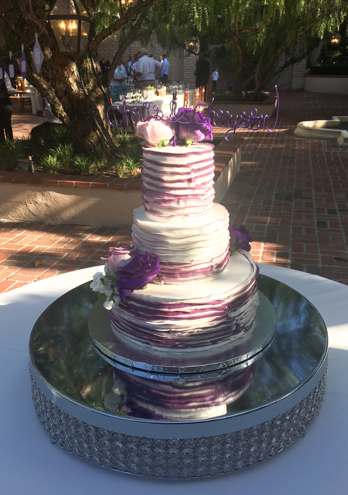 Wedding cake t the Rancho Bernardo Inn in SD by A Lady Goes West