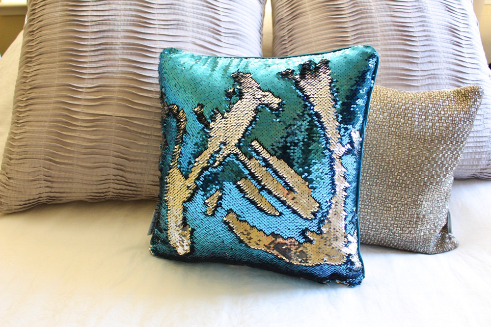 Back of Cherish Mermaid Pillow by A Lady Goes West