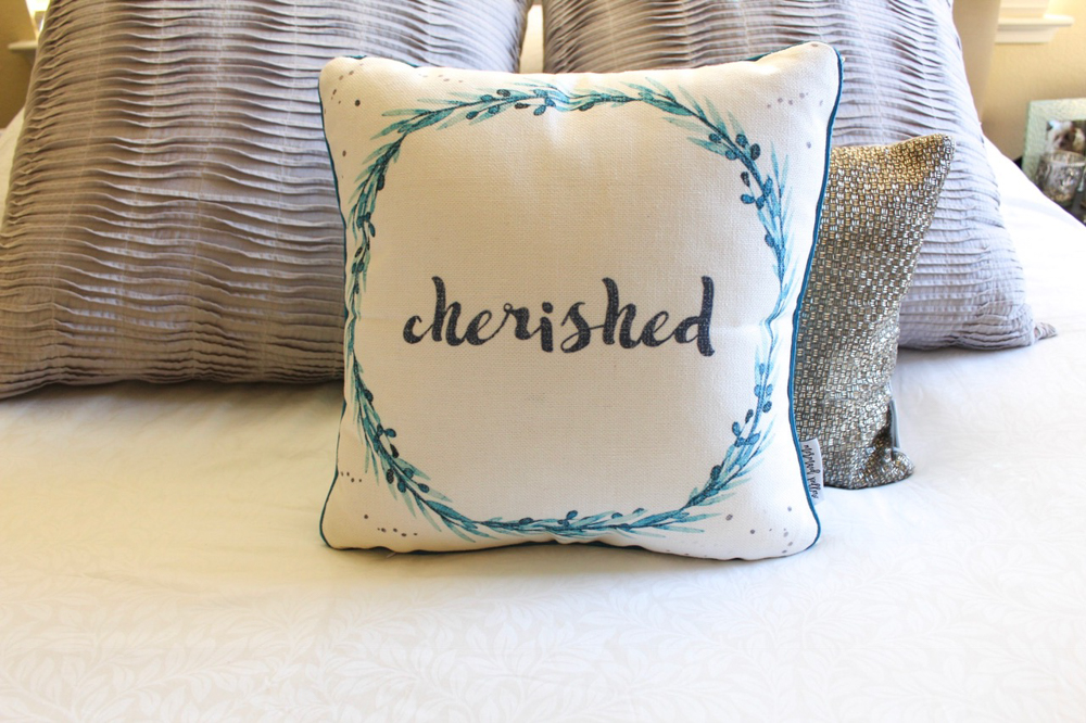 Front of Cherish Mermaid Pillow by A Lady Goes West