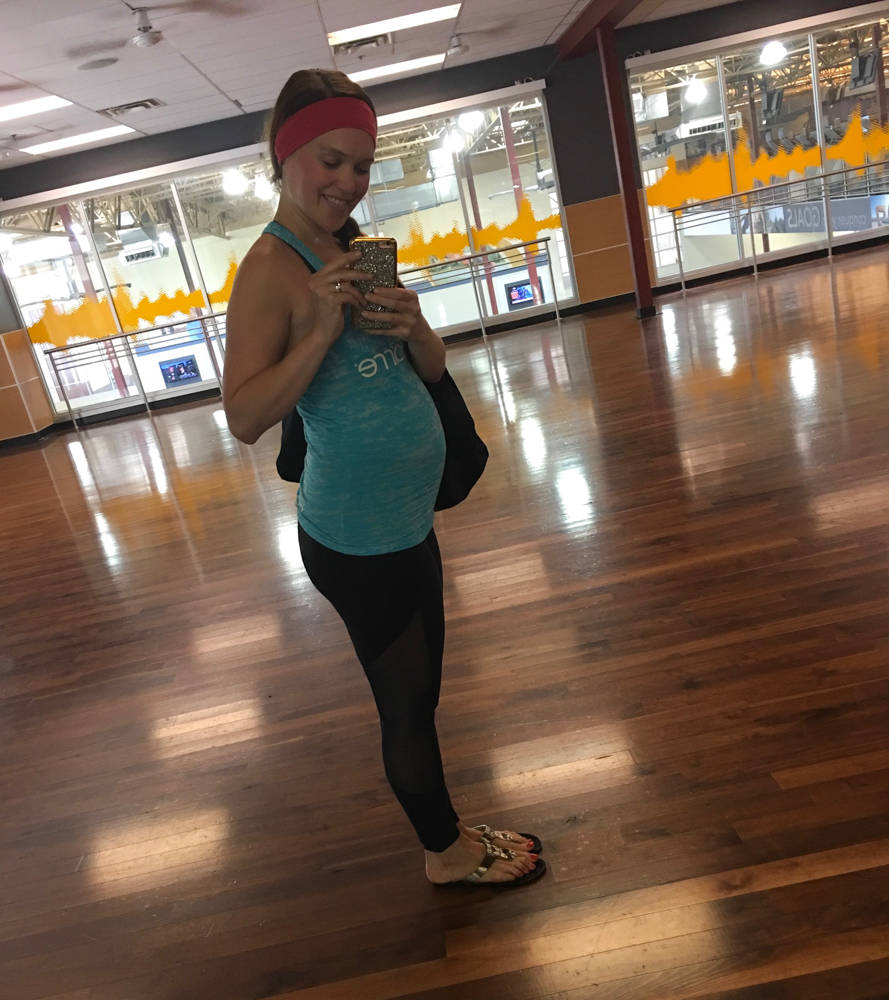 Pregnant Ashley at 23 weeks post-teaching barre by A Lady Goes West