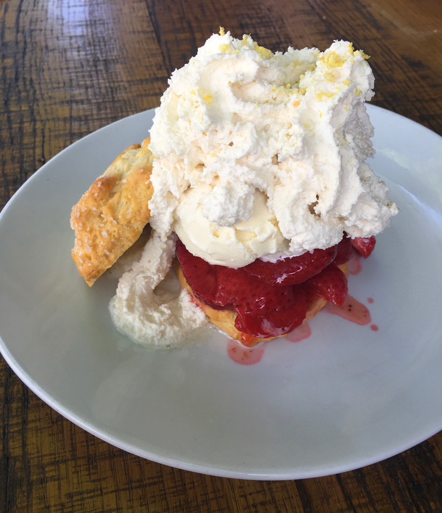 Strawberry shortcake at California Pizza Kitchen by A Lady Goes West