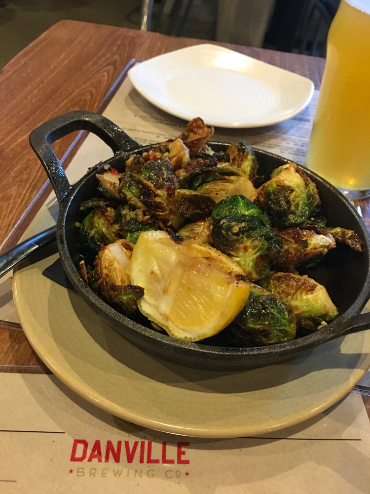 Brussels sprouts at Danville Brewing Company by A Lady Goes West