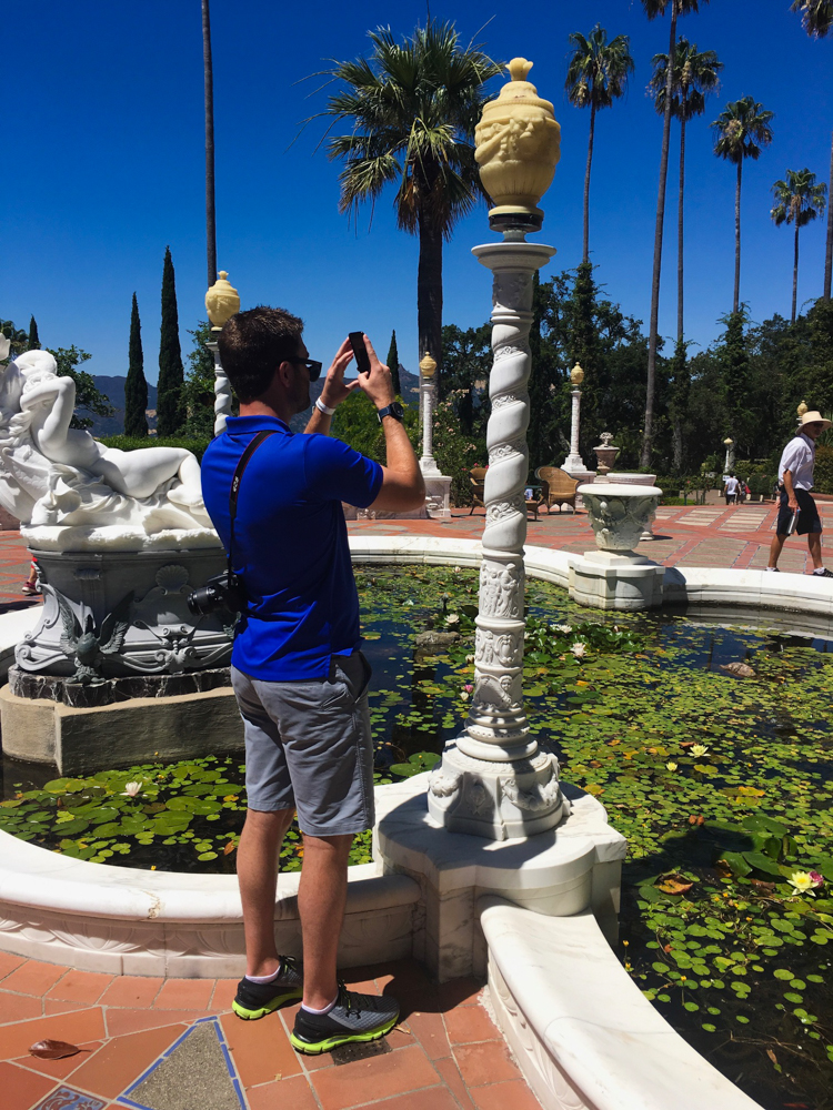 Dave at Hearst Castle by A Lady Goes West