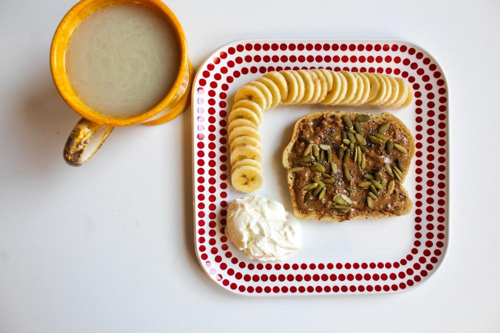Sourdough toast breakfast by A Lady Goes West