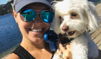 Ashley and Rudy at Lafayette Reservoir by A Lady Goes West