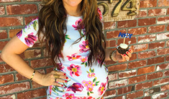 Ashley at my baby shower by A Lady Goes West