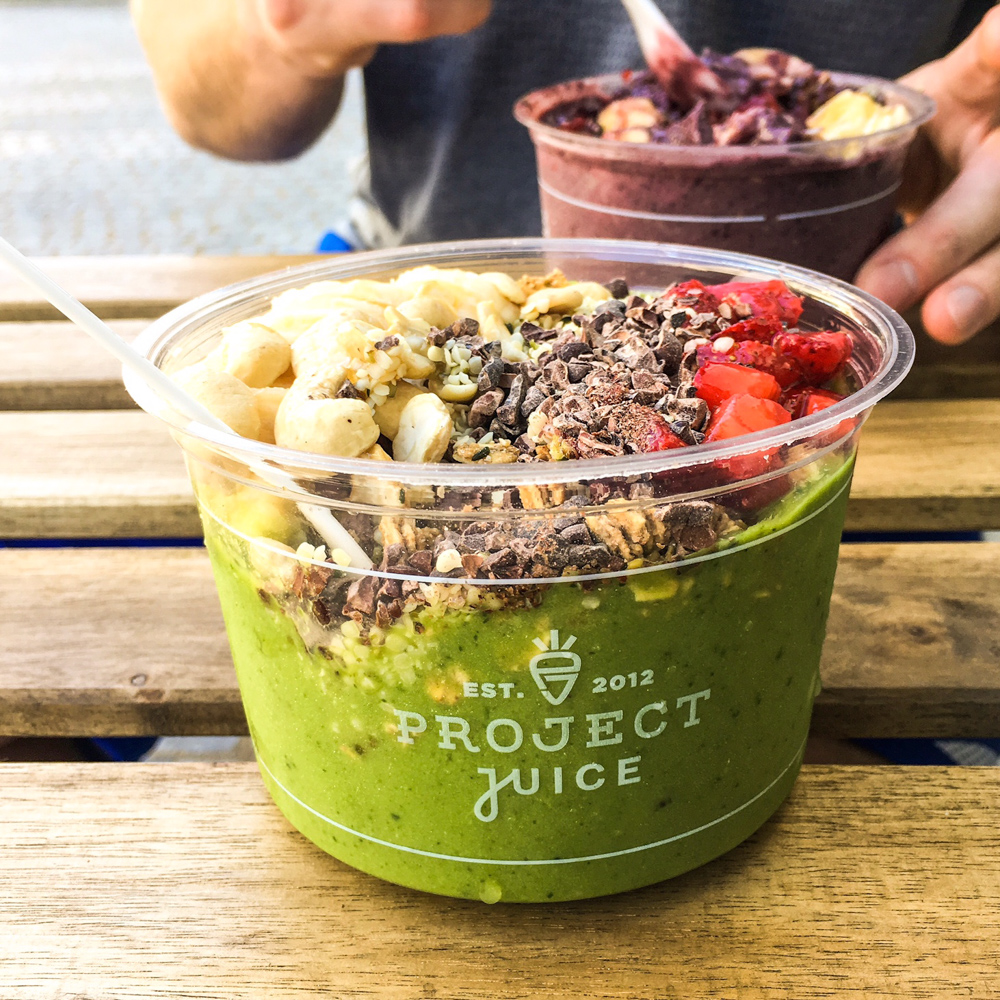 Project Juice smoothie bowl by A Lady Goes West