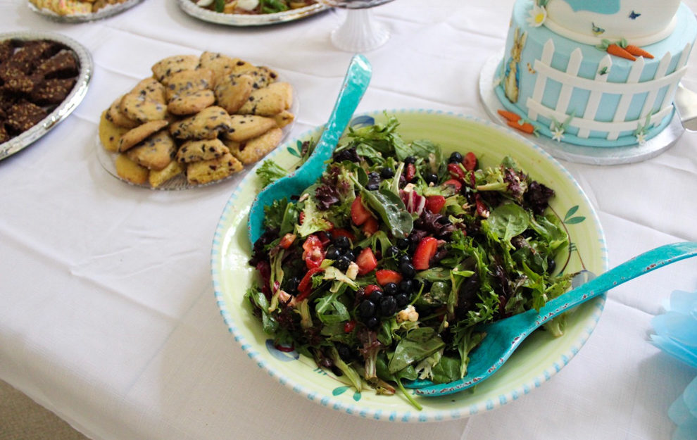 Salad at the baby shower by A Lady Goes West