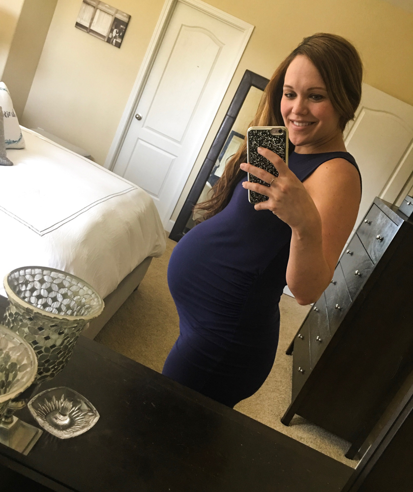 Ashley bump shot at 36 weeks pregnant by A Lady Goes West