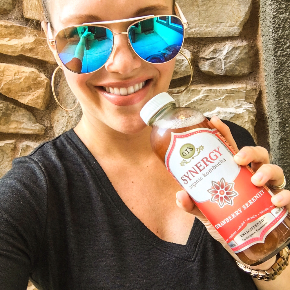 Ashley with a kombucha by A Lady Goes West