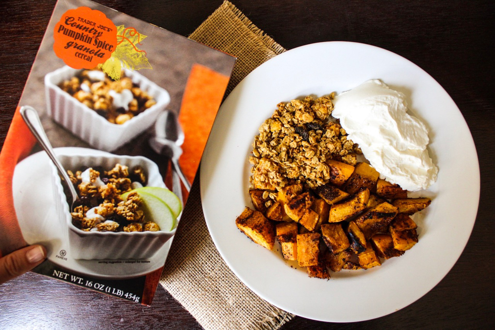 Pumpkin spice granola from Trader Joe's by A Lady Goes West