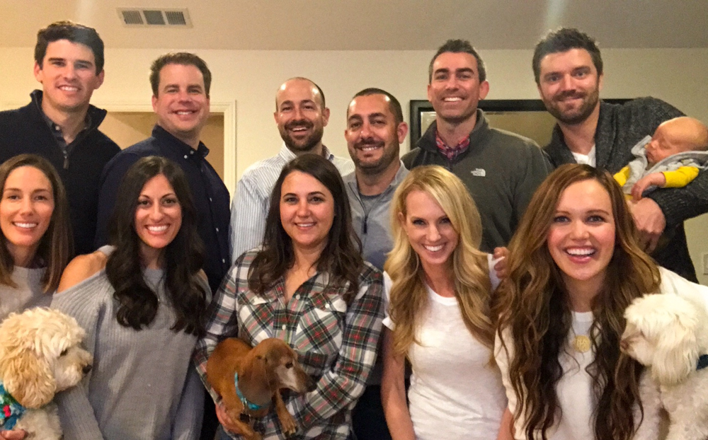 Group of friends at Friendsgiving by A Lady Goes West