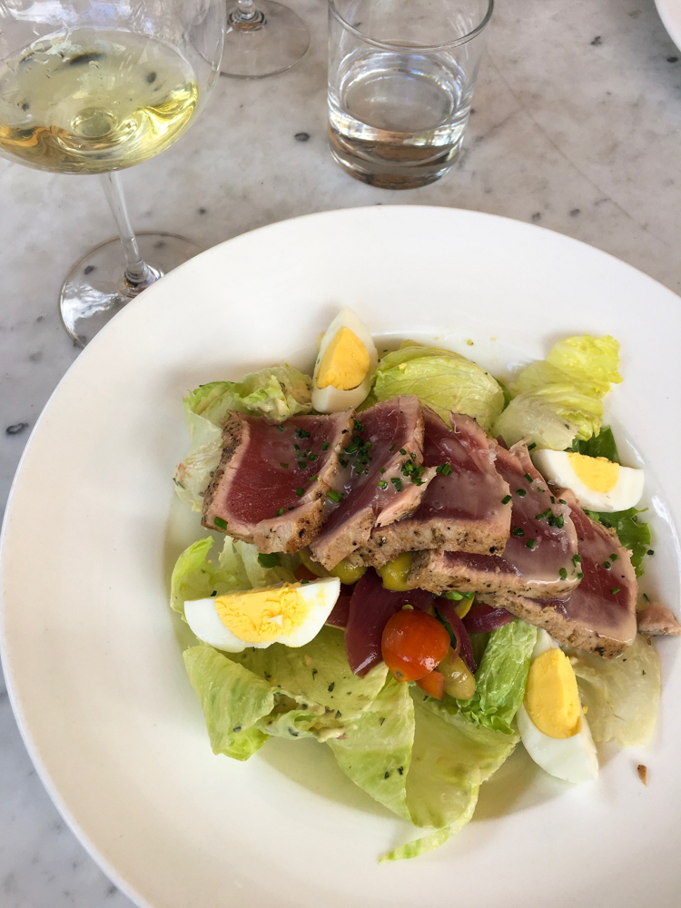 Nicoise salad at El Dorado Kitchen in Sonoma by A Lady Goes West