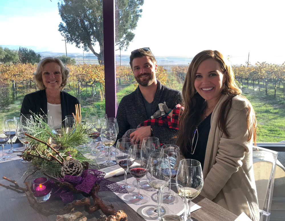 Ashley, Dave and my Mom in Livermore Valley by A Lady Goes West