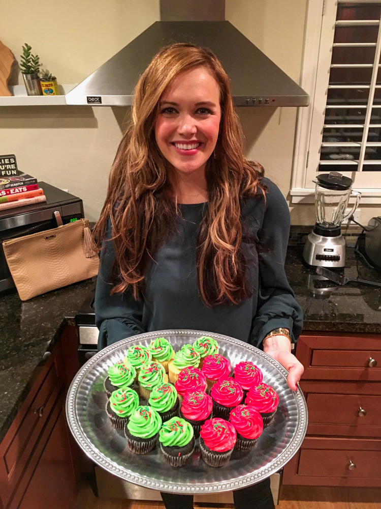 Ashley with cupcakes by A Lady Goes West