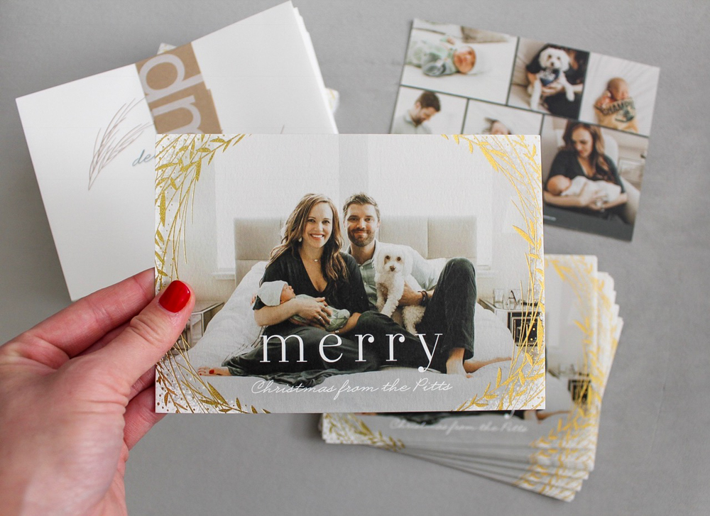 Minted holiday cards by A Lady Goes West