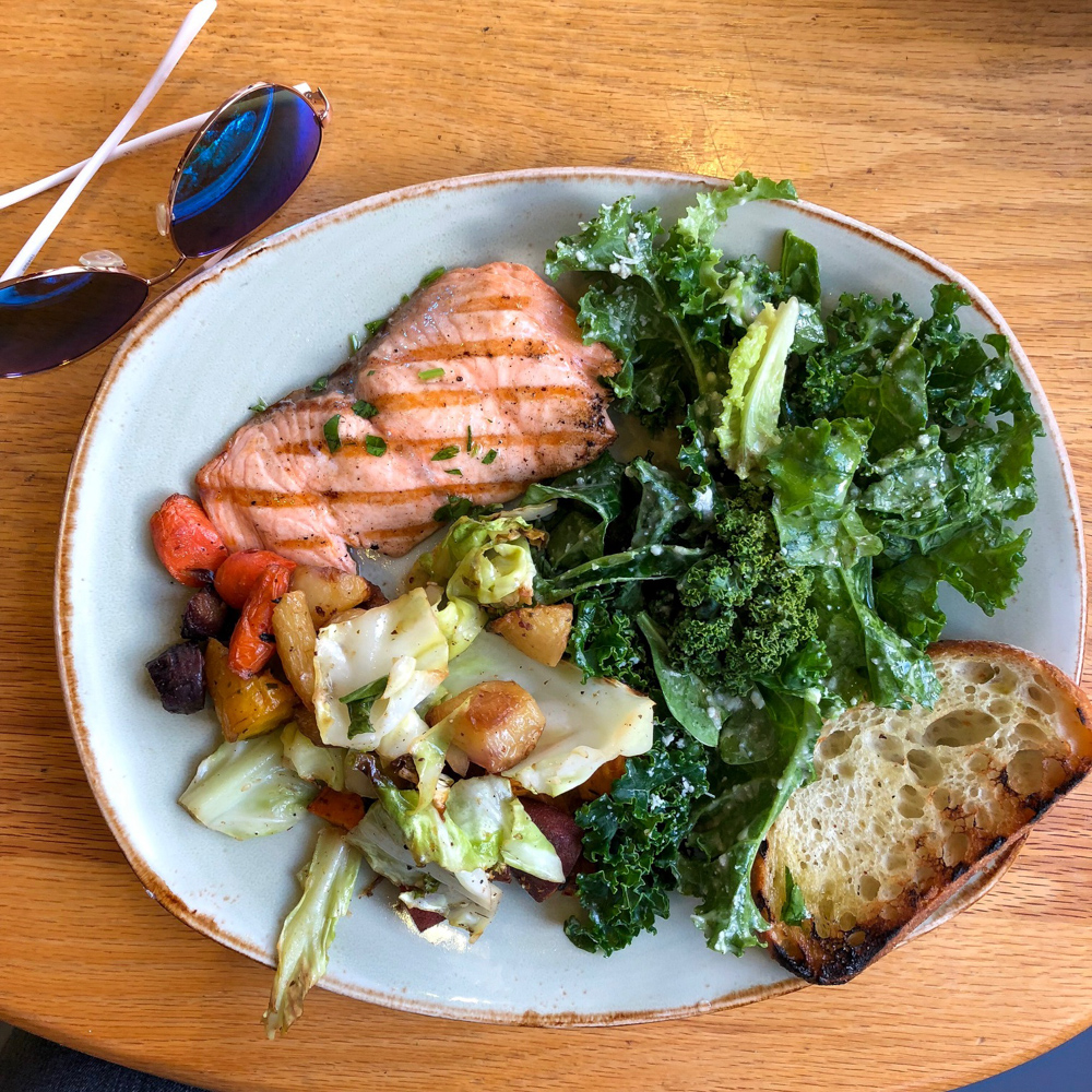 Tender Greens salmon lunch by A Lady Goes West