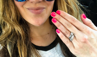 Ashley's new pink manicure by A Lady Goes West