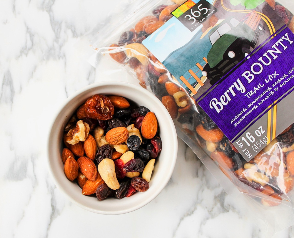 Berry Bounty trail mix store-bought healthy snack by A Lady Goes West