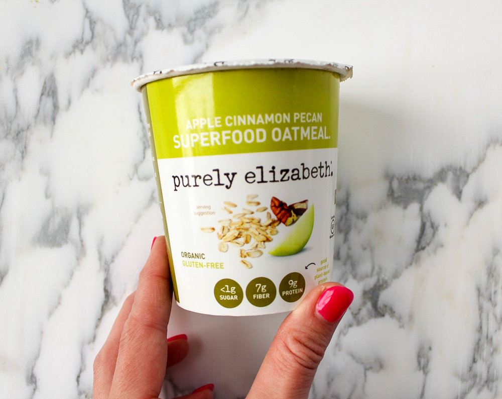 Purely Elizabeth oatmeal store-bought healthy snack by A Lady Goes West