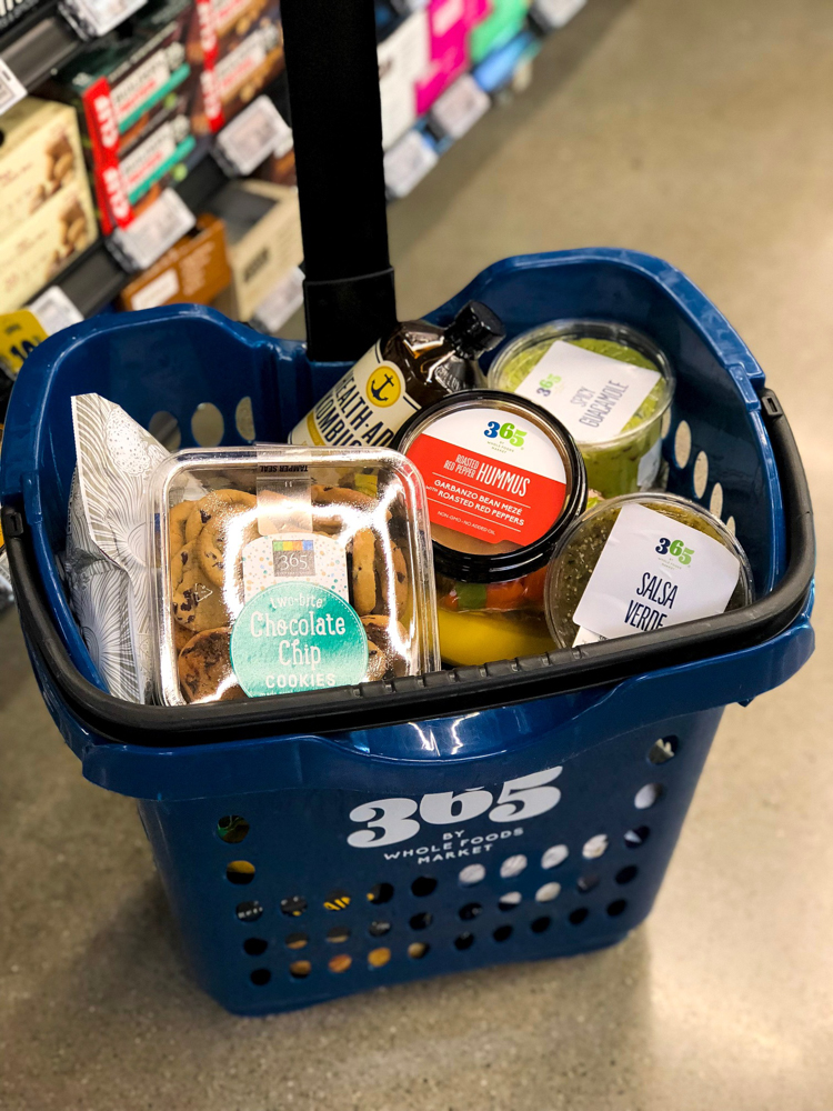 Shopping cart at Whole Foods Market 365 - Super Bowl snack - by A Lady Goes West