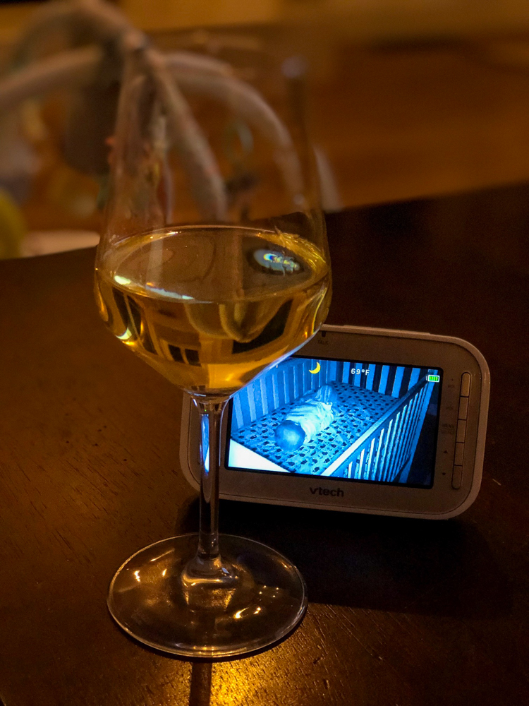 Wine and baby monitor by A Lady Goes West