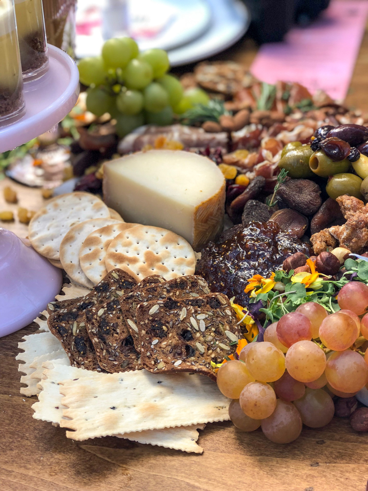 Beauty Week brunch charcuterie board by A Lady Goes West