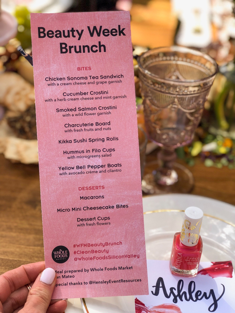 Beauty Week brunch menu by A Lady Goes West