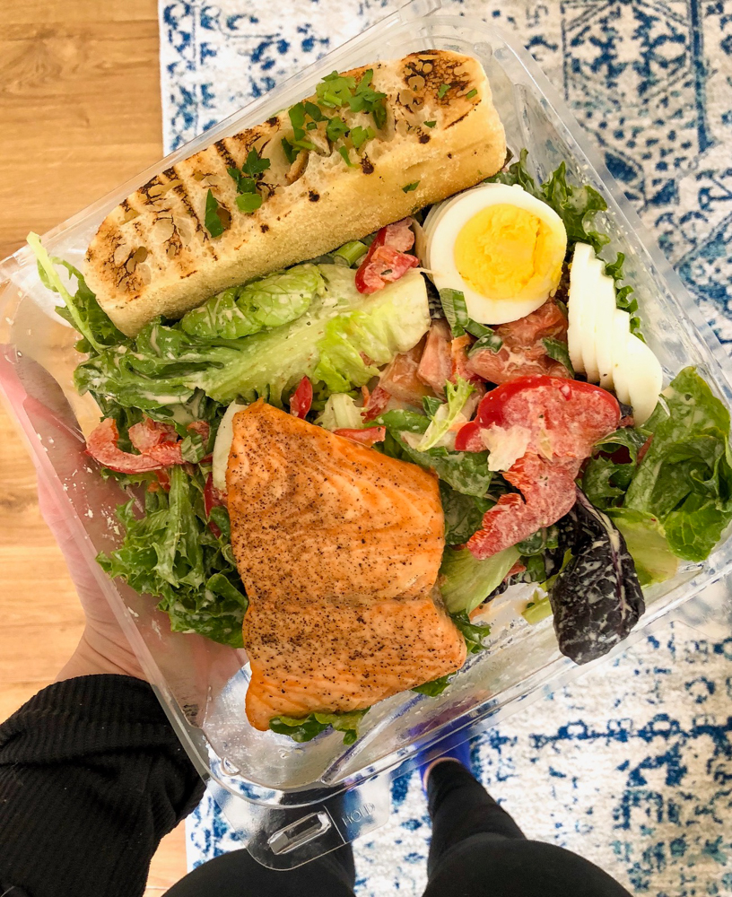 Healthy salmon salad March 2018 by A Lady Goes West