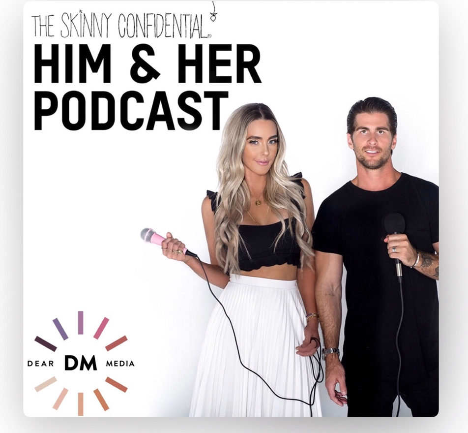 Him and Her podcast - part of top health, wellness and fitness podcast list by A Lady Goes West