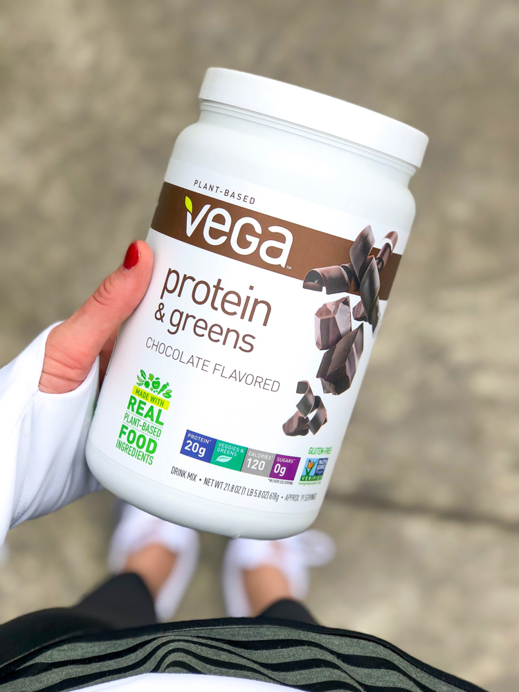 Vega protein and greens powder by A Lady Goes West
