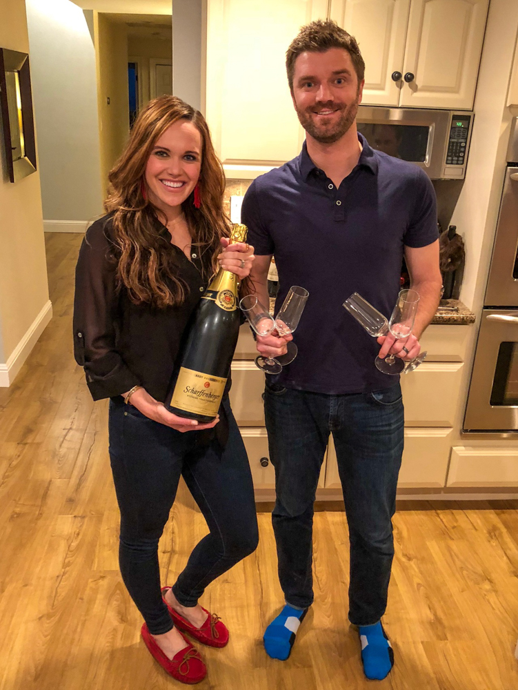 Ashley and Dave hosting dinner party on A Lady Goes West