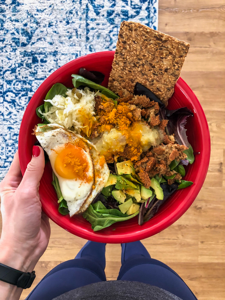 Big lunch salad on A Lady Goes West