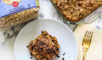 Vanilla banana protein superfood baked oatmeal recipe (gluten-free)
